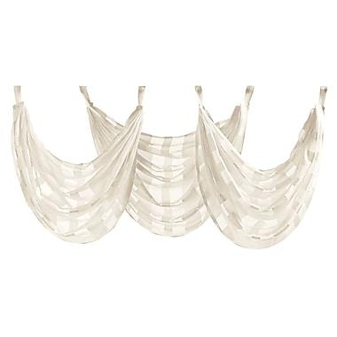 Five Queens Court Farmington 15'' Curtain Valance; Ivory