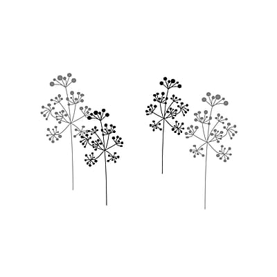FiresideHome Bobble Head Weeds Wall Decal; Black/Silver