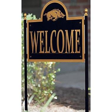 HensonMetalWorks NCAA Garden Sign and Plaque; University of Arkansas