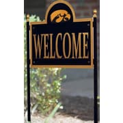 HensonMetalWorks NCAA Garden Sign and Plaque; University of Iowa