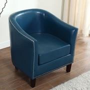 BestMasterFurniture Barrel Chair; Blue