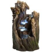 Harmony Fountains Rain Forest Log Garden Resin/Fiberglass Fountain w/ LED Light