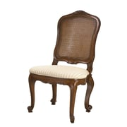 French Heritage Provence Side Chair; Coffee Brown