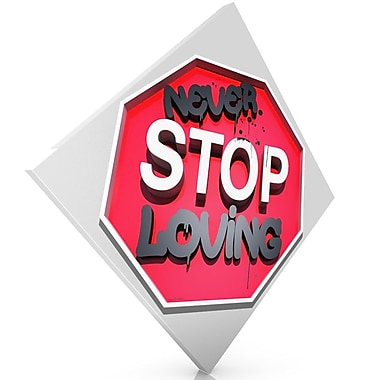 Maxwell Dickson ''Never Stop Loving'' Textual Art on Canvas; 18'' H x 24'' W