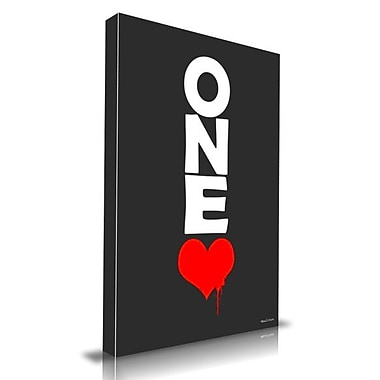 Maxwell Dickson ''One Love'' Textual Art on Canvas; 24'' H x 36'' W