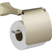 Delta Tesla  Wall Mounted Toilet Paper Holder w/ Removable Cover; Brilliance Polished Nickel