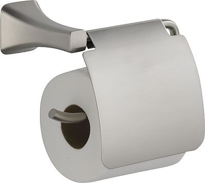 Delta Tesla Wall Mounted Toilet Paper Holder w/ Removable Cover; Brilliance Stainless