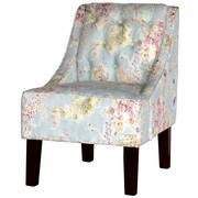 Charlton Home Ellettsville Slipper Chair; Millie Tutti Frutti