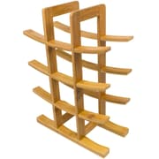 Sorbus 12 Bottle Tabletop Wine Bottle Rack; Natural Wood