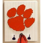 HensonMetalWorks Collegiate Logo Wood Coat Rack; Clemson University Collegiate
