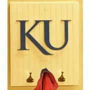 HensonMetalWorks Collegiate Logo Wood Coat Rack; University of Kansas