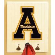 HensonMetalWorks Collegiate Logo Wood Coat Rack; Appalachian State University