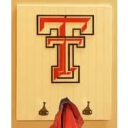 HensonMetalWorks Collegiate Logo Wood Coat Rack; Texas Tech University