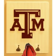 HensonMetalWorks Collegiate Logo Wood Coat Rack; Texas A&M University