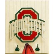 HensonMetalWorks Collegiate Logo Wood Coat Rack; Ohio State University