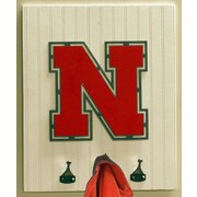 HensonMetalWorks Collegiate Logo Wood Coat Rack; University of Nebraska