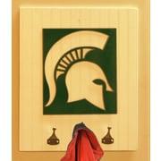 HensonMetalWorks Collegiate Logo Wood Coat Rack; Michigan State University