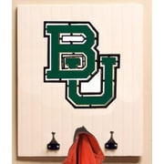 HensonMetalWorks Collegiate Logo Wood Coat Rack; Baylor University