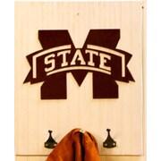 HensonMetalWorks Collegiate Logo Wood Coat Rack; Mississippi State University