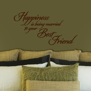 FiresideHome Happiness is Being Married to Your Best Friend Wall Decal; Chocolate