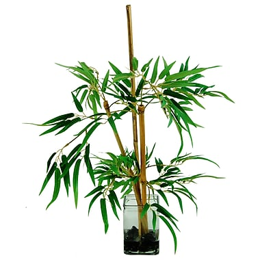 LCGFlorals River Rocks and Bamboo Stalks Tree in Decorative Vase