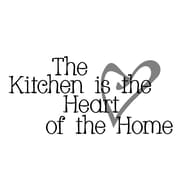 FiresideHome The Kitchen is the Heart of the Home Wall Decal; Black/Silver Mist