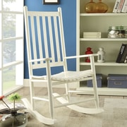 A&J Homes Studio Laik Rocking Chair; White