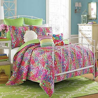 Collier Campbell Paradiso Quilt Set; Twin
