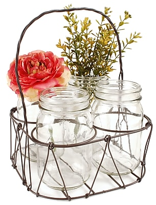 Blossom Bucket 5 Piece Basket Table Vase Set