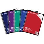 Hilroy 1-Subject Notebook, 10-1/2 x 8, Assorted, 80 Pages