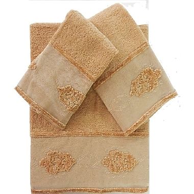 August Grove Isaiah Decorative 3 Piece Towel Set; Beige