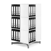 Moll® Cube Binder & File Carousel Shelving, Three Tier (CUBE3)