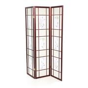 Winston Porter 70'' x 54'' Kinkade Shoji 3 Panel Room Divider; Cherry
