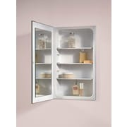 Broan Horizon Single Door Recessed Cabinet w/ Three Steel Shelves; 26'' / Glass