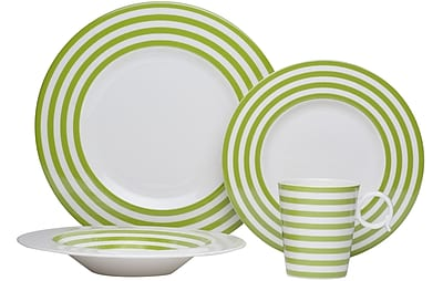 Red Vanilla Freshness 4 Piece Place Setting; Olive