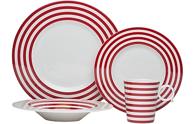 Red Vanilla Freshness 4 Piece Place Setting; Red