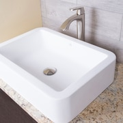 Vigo Petunia Stone Rectangular Vessel Bathroom Sink