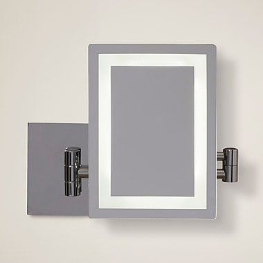 American Imaginations Rectangle LED Wall Mirror; Chrome