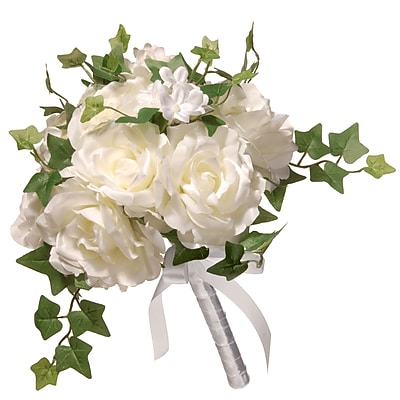 National Tree Co. 12'' Rose Wedding Bouquet