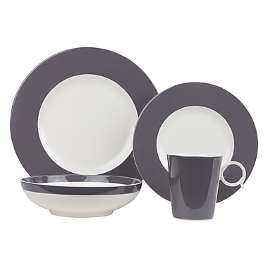 Red Vanilla Freshness 4 Piece Place Setting; Gray
