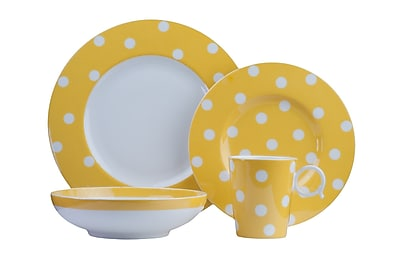 Red Vanilla Freshness 4 Piece Place Setting; Yellow WYF078279890168