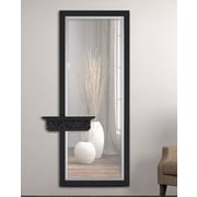 Majestic Mirror Elegant Rectangular Beveled Glass Framed Wall Mirror