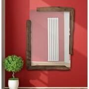 Majestic Mirror Unique Rectangular Wood Framed Wall Mirror