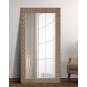 Majestic Mirror Rectangular Textured Framed Wall Mirror