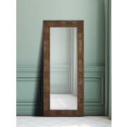 Majestic Mirror Wood Framed Beveled Glass Wall Mirror