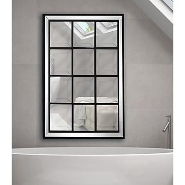 Majestic Mirror Beveled Glass Rectangular Framed Wall Mirror