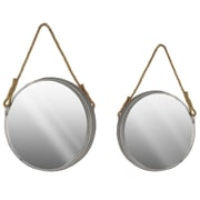 Urban Trends Metal Wall Mirror; Silver