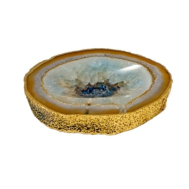 Mapleton Drive Agate Catchall Decorative Bowl