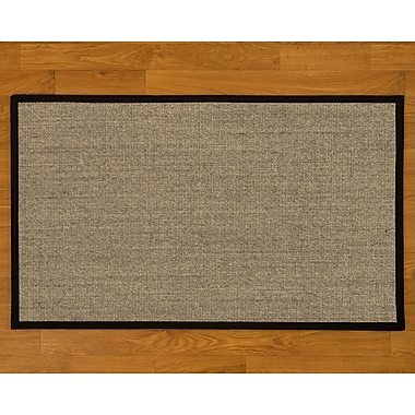 Natural Area Rugs Sisal Handmade Black Area Rug; 2'6'' x 8' Runner