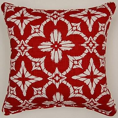 Creative Home Aspidoras Throw Pillow; Red